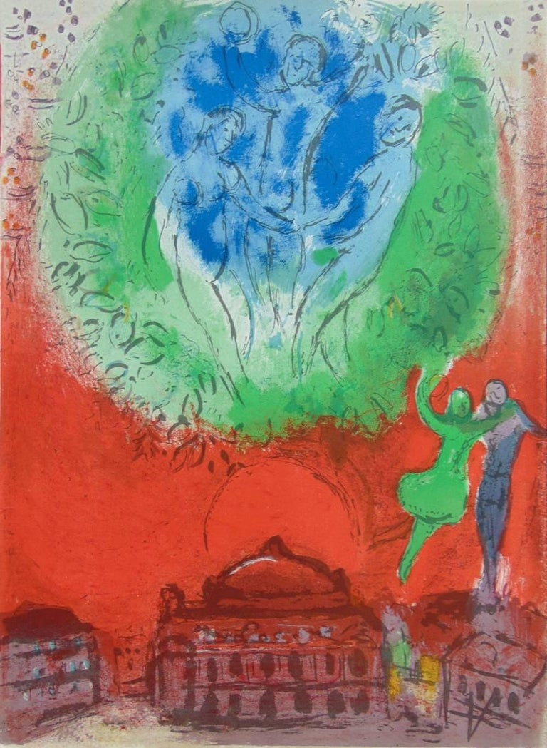 Marc chagall the opera from derri re le miroir le for Marc chagall derriere le miroir
