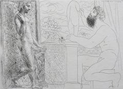 Sculptor and his Model in Front of a Window, from: La Suite Vollard