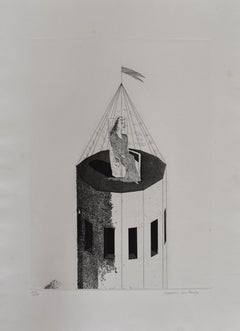 The Princess in her Tower, from: Six Fairy Tales from Brothers Grimm