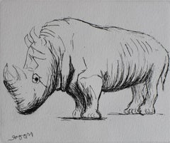Rhinoceros, from: Animals at the Zoo