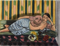 Odalisque with the Red Coffer  Odalisque au Coffret Rouge,
