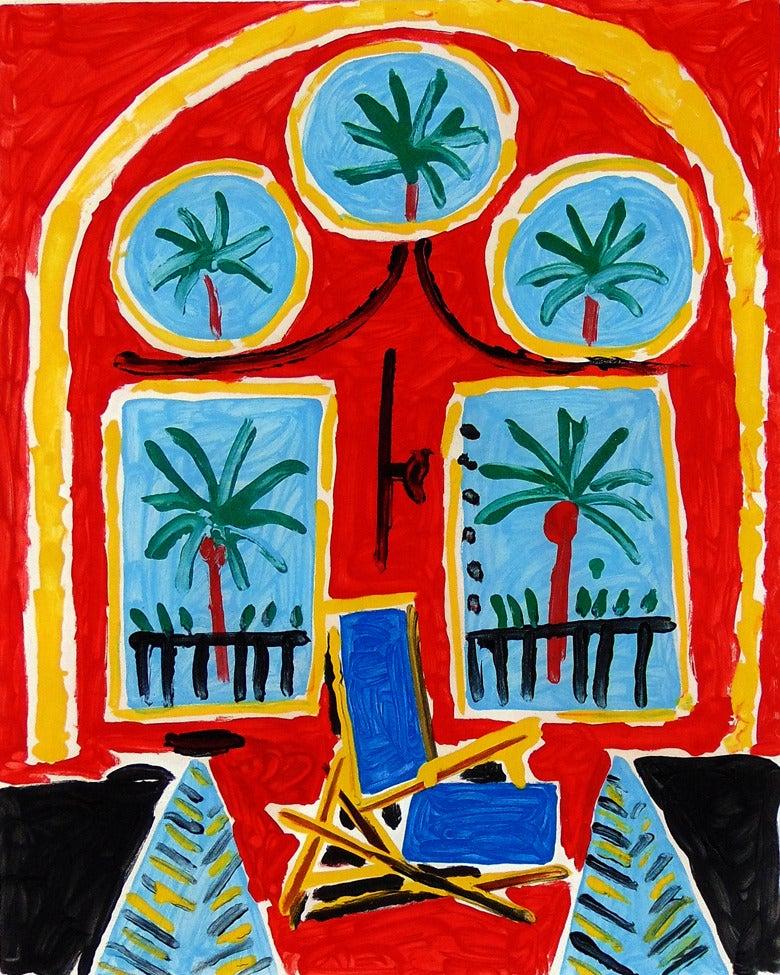 Pablo Picasso Red Interior With A Transatlantic Blue