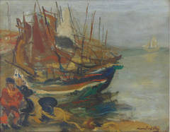 Fishermen by the Boats
