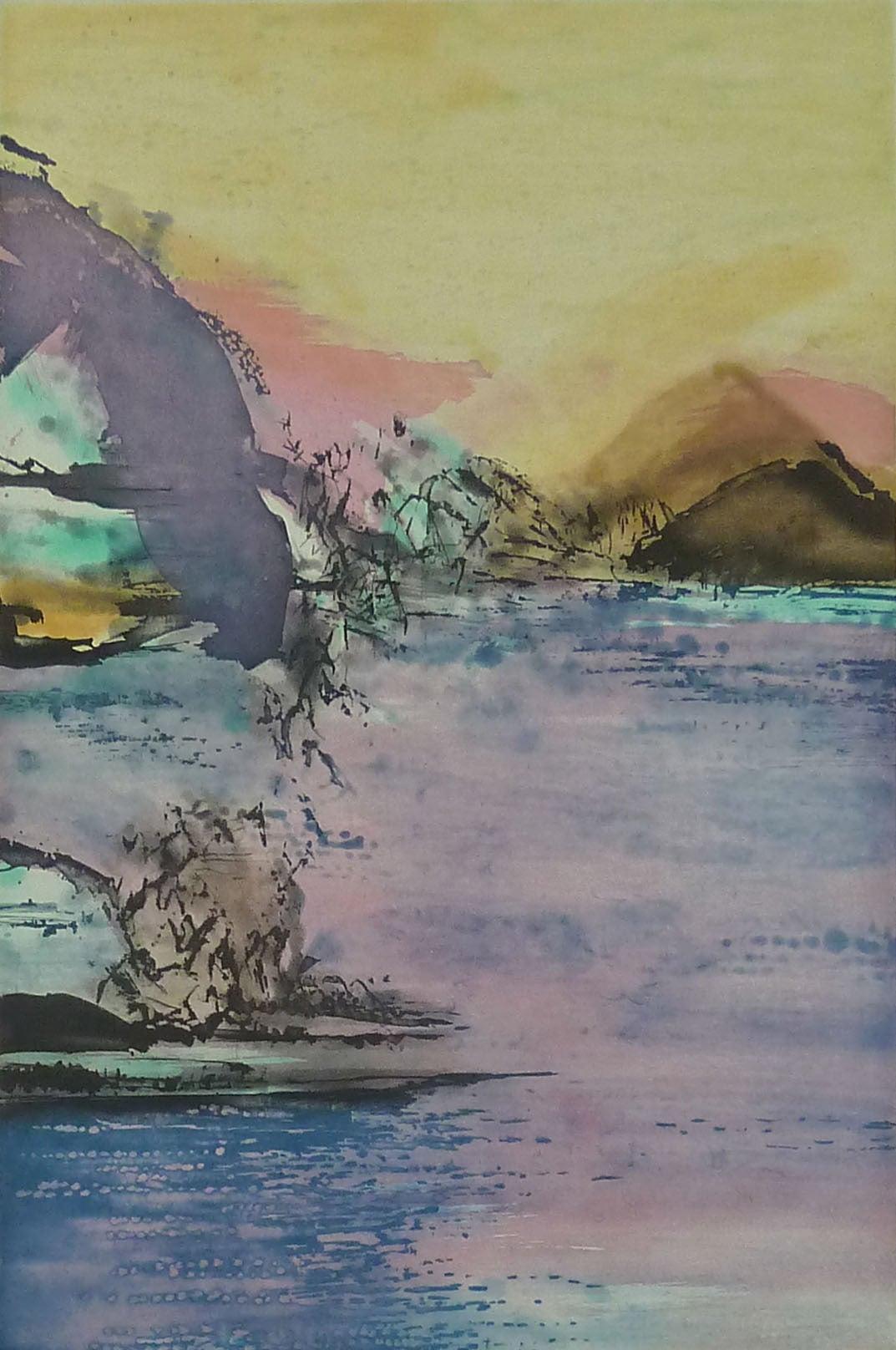 Zao Wou-Ki Abstract Print - Etching No. 327