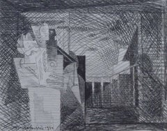 The Balcony (Drawing for Plate I, Planches de Salut)