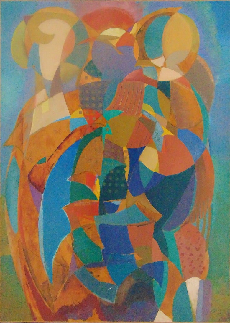 Abstract Composition - Signed Painting Hungarian Cubism