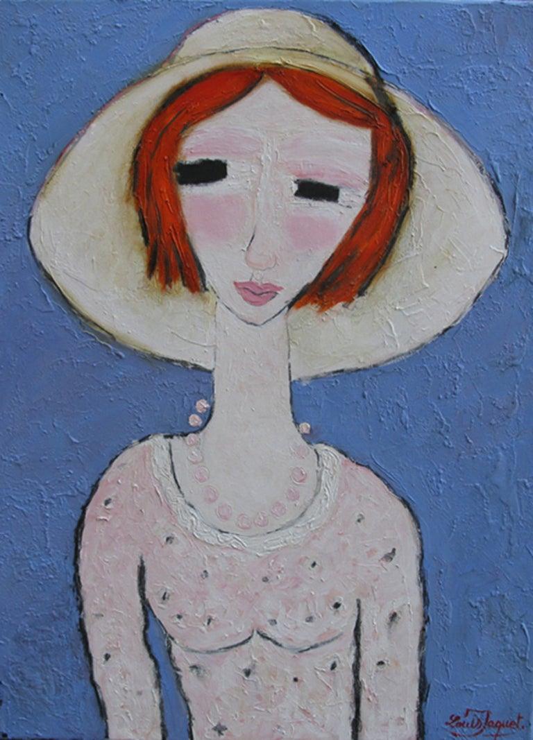 Louis Jaquet Portrait Painting - L'irlandaise