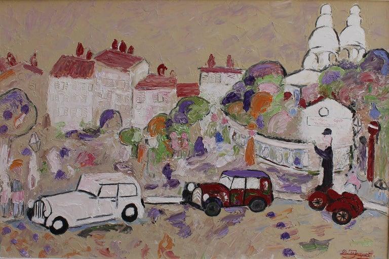 Louis Jaquet Landscape Painting - Montmartre