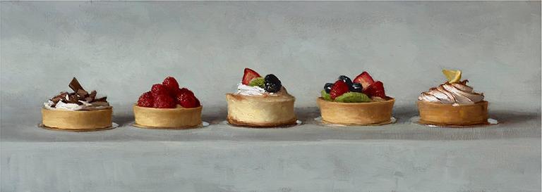 Sarah Lamb Still-Life Painting - Homage to Thiebaud