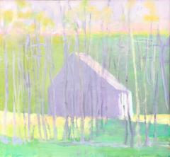Saltbox, Barn Among Trees