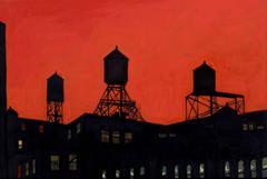 Tutor Watertowers & Red Sky