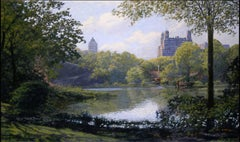 Central Park, View West at Turtle Pond