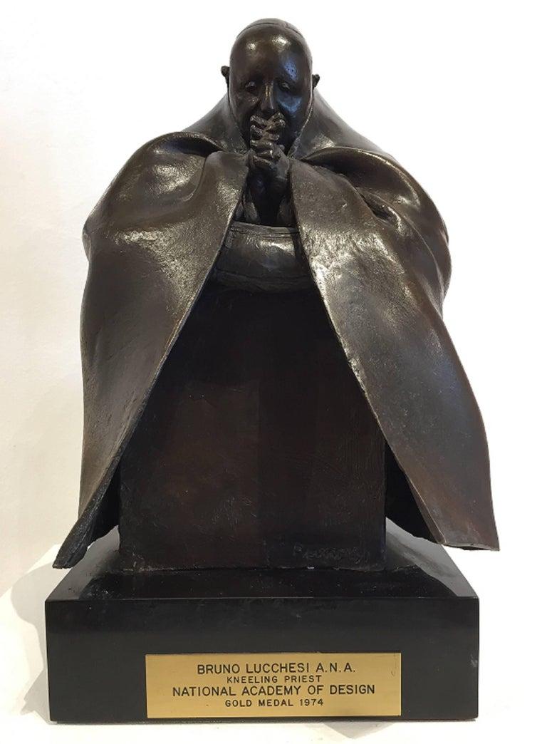 Bruno Lucchesi Figurative Sculpture - Pope John XXIII