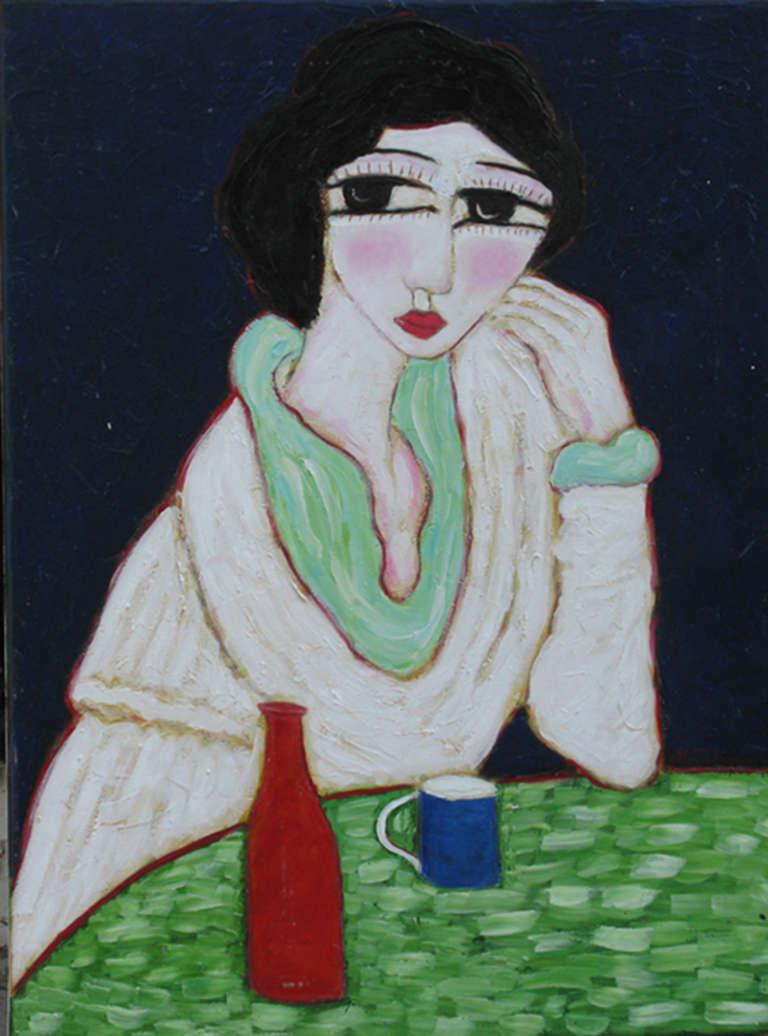 Femme au Chale Blanc