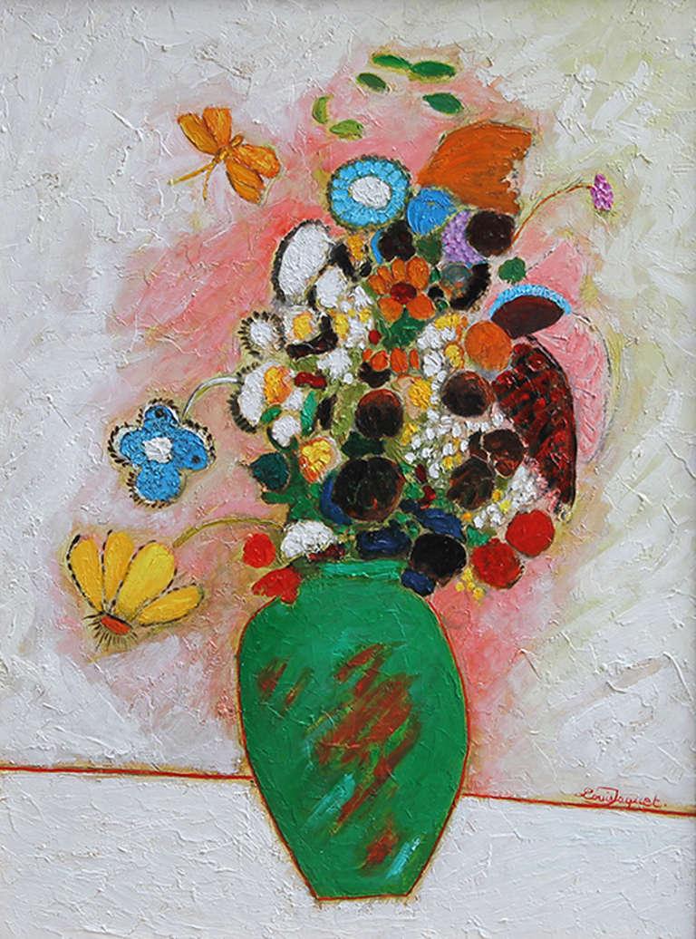 Le Grand Bouquet a Vase Vert