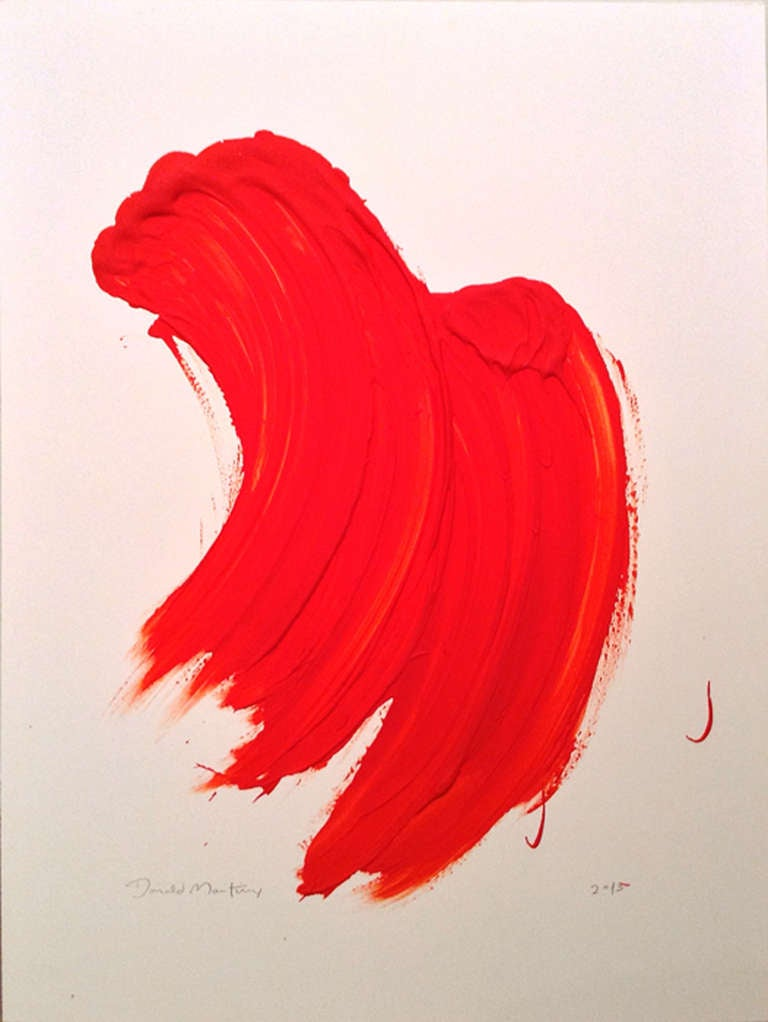 Donald Martiny Red 1 Painting At 1stdibs