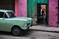 Russian Car in Old Havana