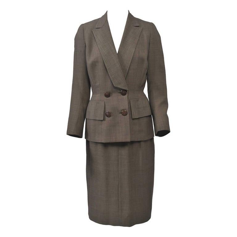 1950s Brown Tweed Suit