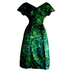 1950s House of Branell Vintage Watercolor Dress