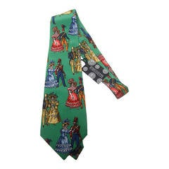 FORNASETTI Whimsical Silk Print Necktie Made in Italy