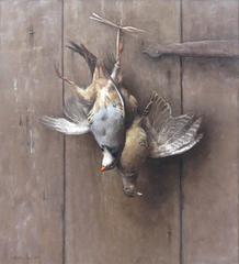 Hanging Pheasant Hen and Chukkar