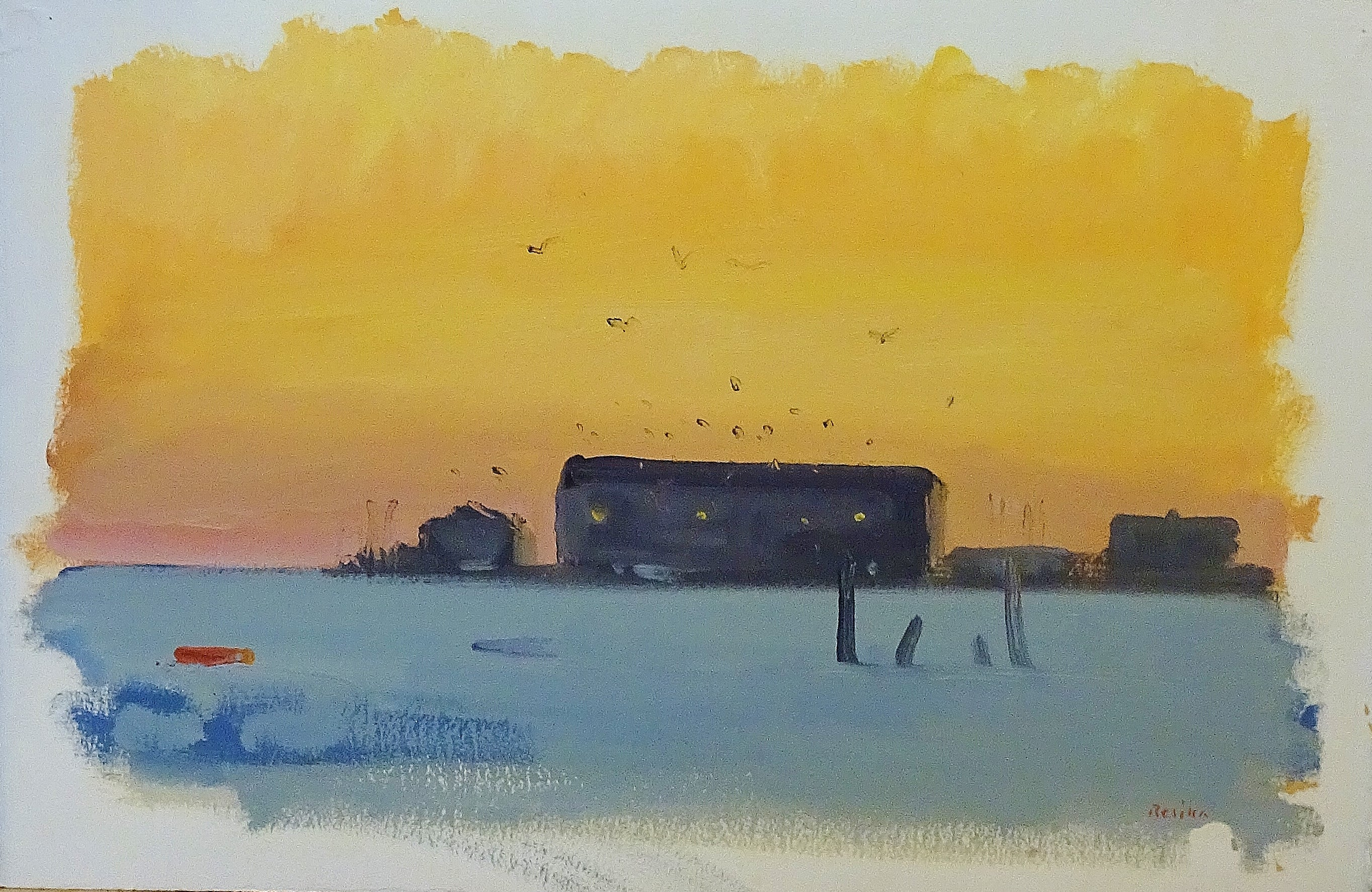 Paul Resika - Provincetown Pier, Slate Water, Painting For Sale at ...