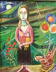 Woman and Child in a Surreal Landscape