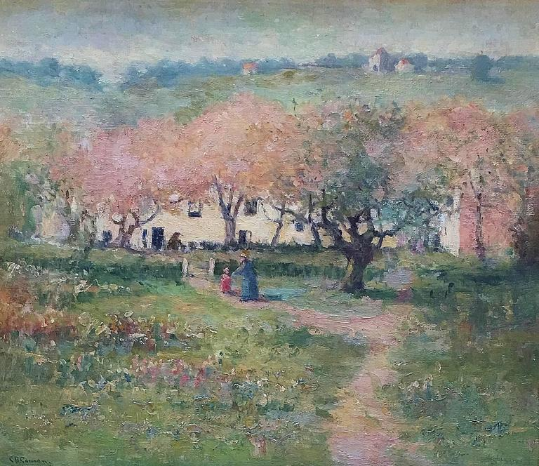 Charlotte Buell Coman Landscape Painting - Countryside