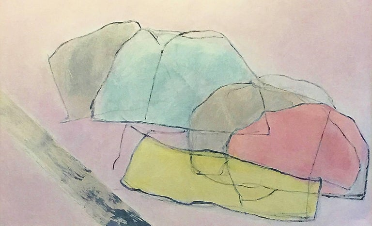 Cleve Gray Abstract Painting - Zen Gardens Series #25