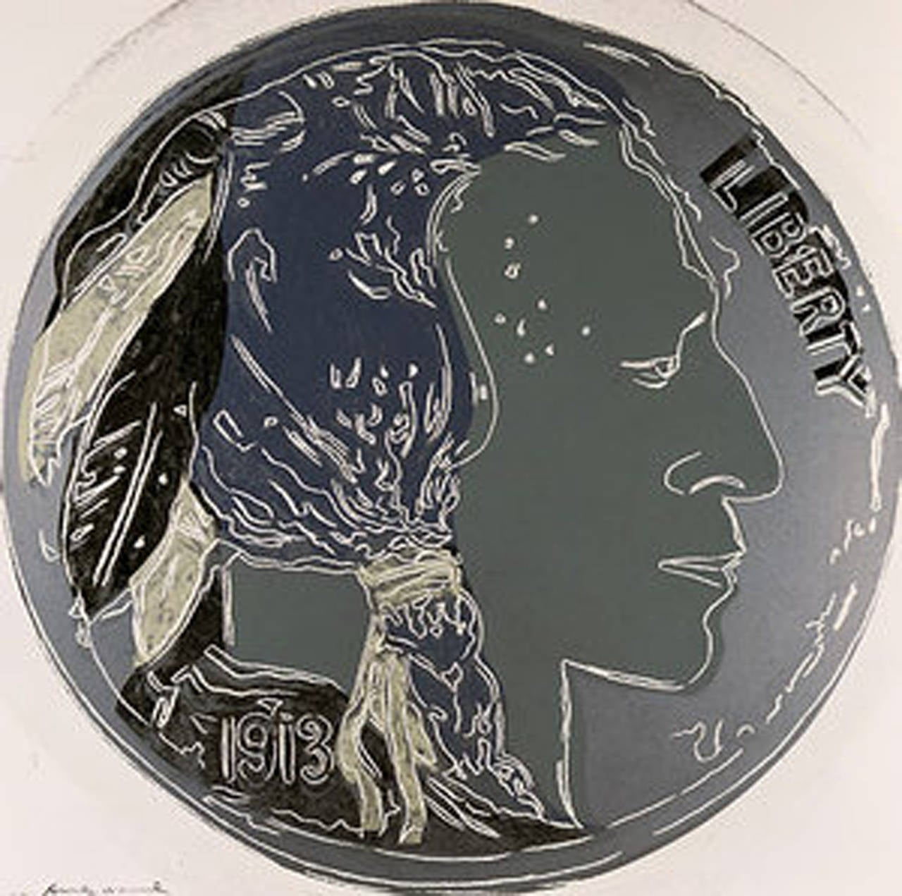 Andy Warhol Figurative Print - Indian Head Nickel, IIB. 385