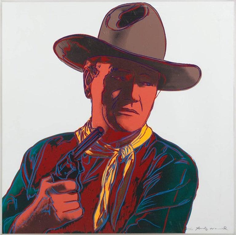 Andy Warhol Portrait Print - John Wayne, IIB. 377