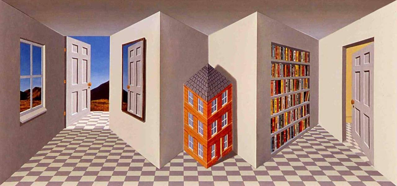 Patrick Hughes Figurative Print - Home