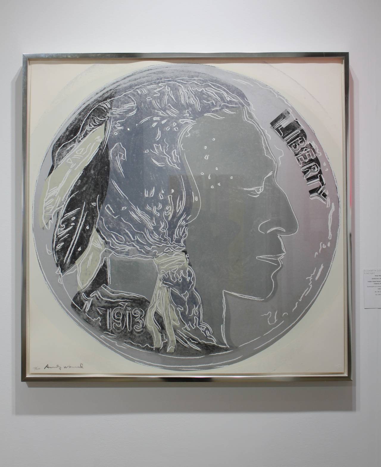 Indian Head Nickel, IIB. 385 - Print by Andy Warhol