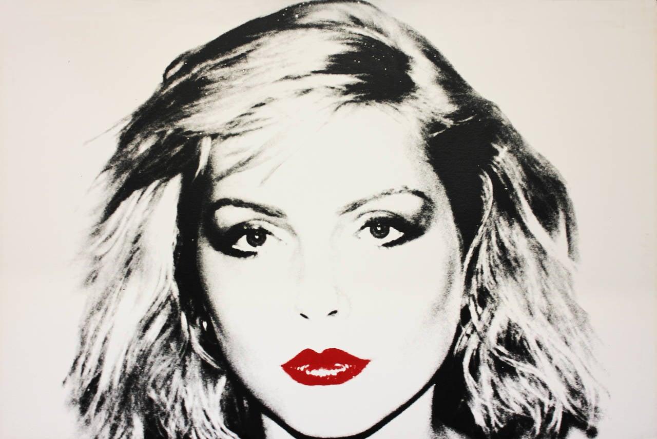 Delightful Andy Warhol Portrait Print   Debbie Harry, IIIC. 53