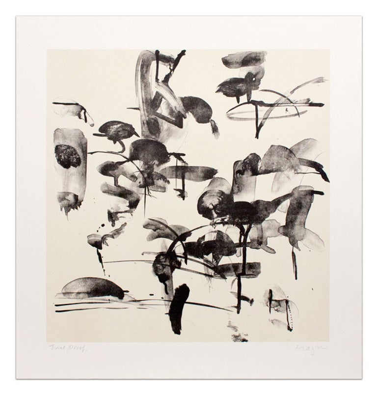 """Thaw I"" Michael Mazur Lithograph in Black and White"