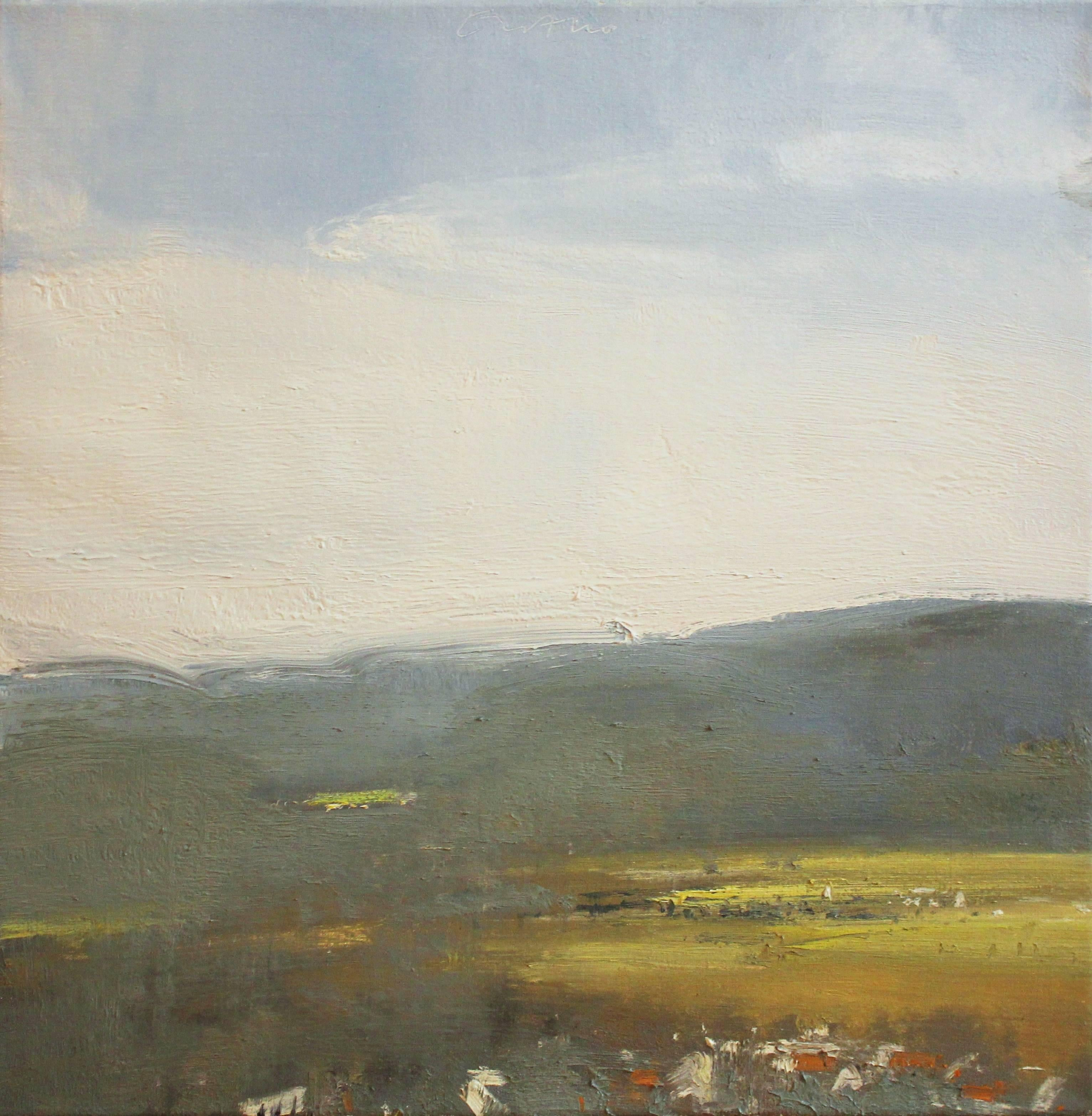 """""""Westminster, Low Lying Haze"""" Eric Aho Landscape Painting"""