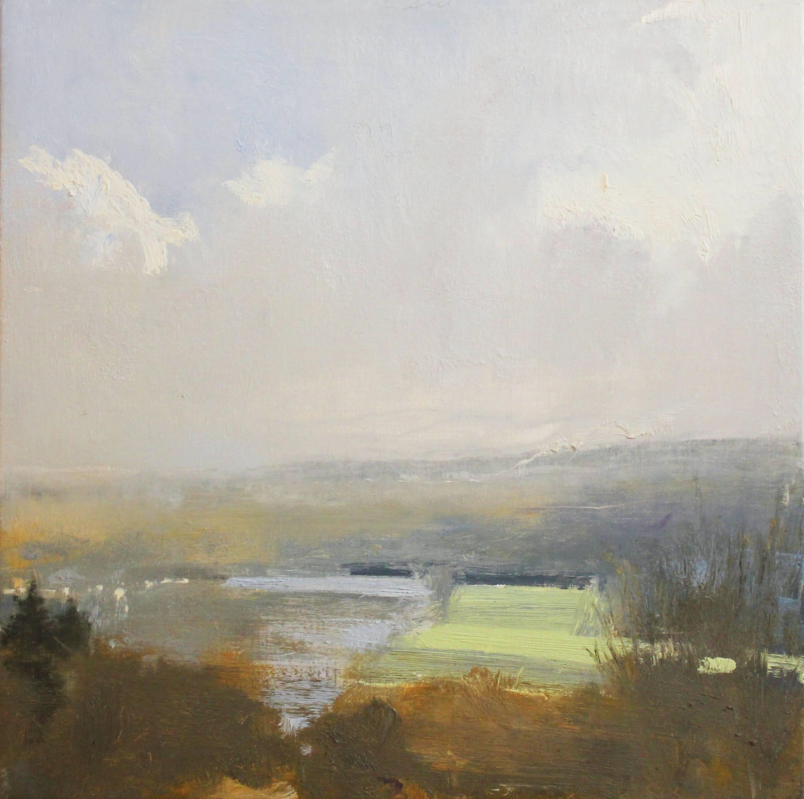 """""""Long Meadow No. 2"""" Eric Aho Landscape Painting"""