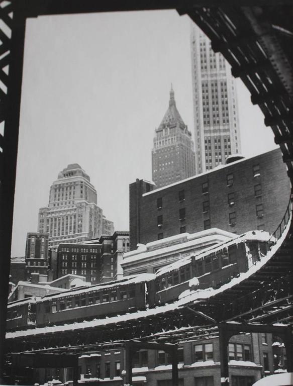 Benn mitchell black and white photograph 3rd avenue el new york