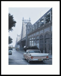 Queensboro Bridge and Ford (Limited edition archival print.)
