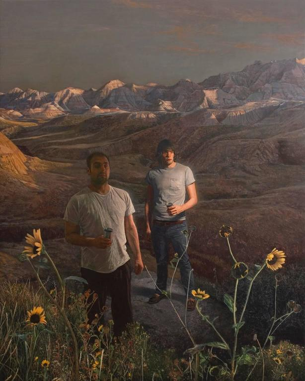 Alex Roulette Figurative Painting - Badlands