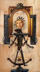 Marionette, framed collage