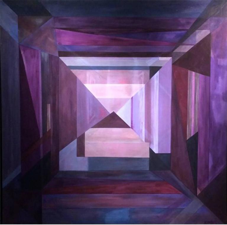 The Purple Light, Framed