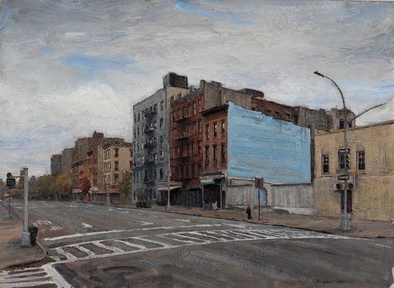 Bennett Vadnais Landscape Painting - 118th St., Framed