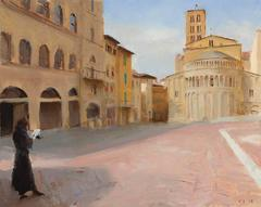 Sketching in Arezzo, Framed