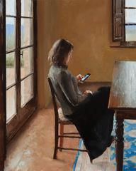 Woman Reading a Letter, Framed