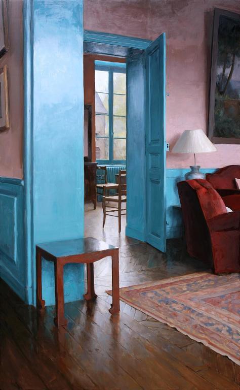 Foyer Framed Art : Kenny harris parlor to foyer ii framed painting for