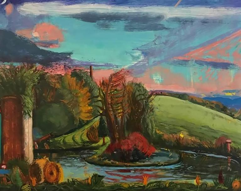 Gregory Crane Landscape Painting - Early Fall Upstate