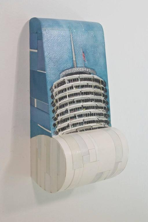 Capitol Records - Painting by Russ Havard