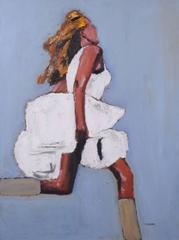 Running Girl in White