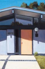 Eichler Door Orange and Blue